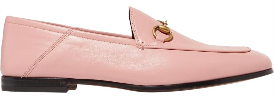 0449aa6409f Gucci Pink Horsebit Brixton Horsebit-detailed Leather Collapsible-heel  Loafers Flats