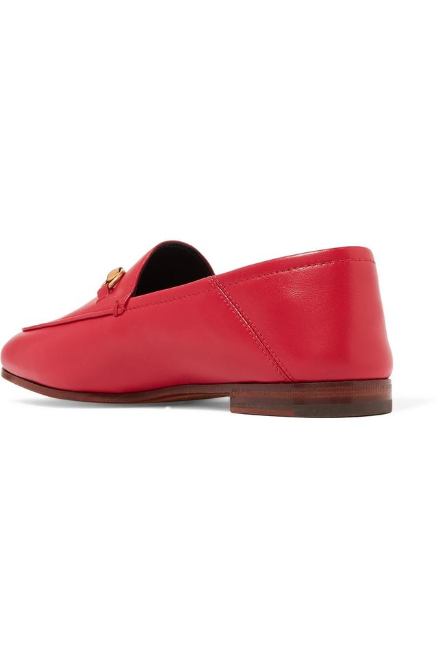 ba0a8031ed1 Gucci Red Horsebit Brixton Horsebit-detailed Leather Collapsible ...