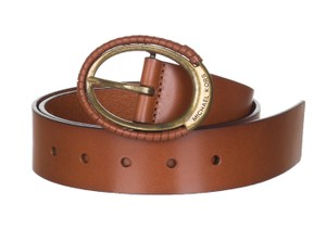 MICHAEL Michael Kors Michael Michael Kors Women's Brown Leather Eclipse Buckle Belt