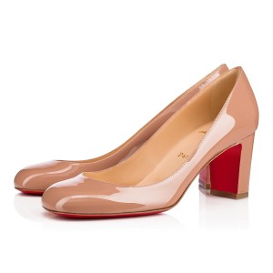 Christian Louboutin Classic Office Low Heel Nude Pumps