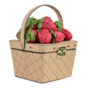 Kate Spade Picnic Picnic Perfect Picnic Basket Strawberr Basket Basket Satchel in Cashew - item med img