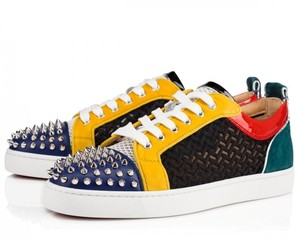 Christian Louboutin Sneakers Red Bottoms Spike Mesh Multicolor Athletic