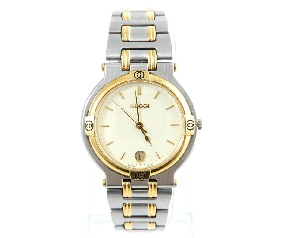 e6ec151d667 Gucci Vintage Gucci 9000g Gold Stainless Steel Two-Tone Men s Quartz Watch  Image 0 ...