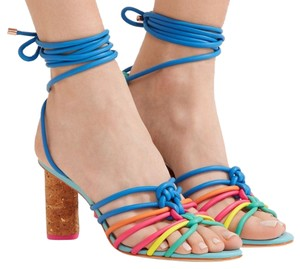Sophia Webster Cork & colorful straps. Sandals