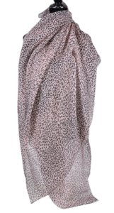 Saint Laurent New Saint Laurent Women's $925 Pink Leopard Print Cashmere Silk Scarf