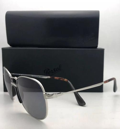 Persol New PERSOL Sunglasses 2449-S 518/56 56-17 145 Silver Frame w/Blue Grey Image 1