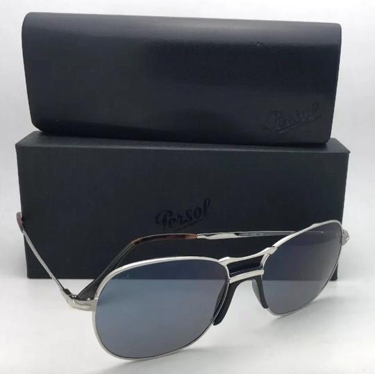 Persol New PERSOL Sunglasses 2449-S 518/56 56-17 145 Silver Frame w/Blue Grey Image 10