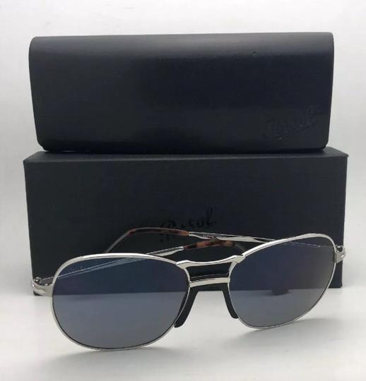Persol New PERSOL Sunglasses 2449-S 518/56 56-17 145 Silver Frame w/Blue Grey Image 11