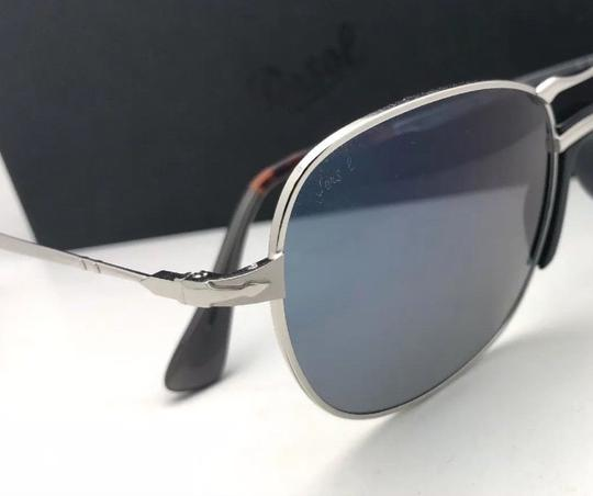 Persol New PERSOL Sunglasses 2449-S 518/56 56-17 145 Silver Frame w/Blue Grey Image 2