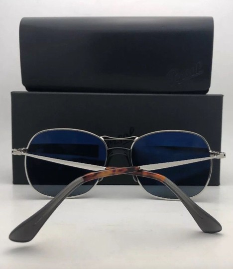 Persol New PERSOL Sunglasses 2449-S 518/56 56-17 145 Silver Frame w/Blue Grey Image 3