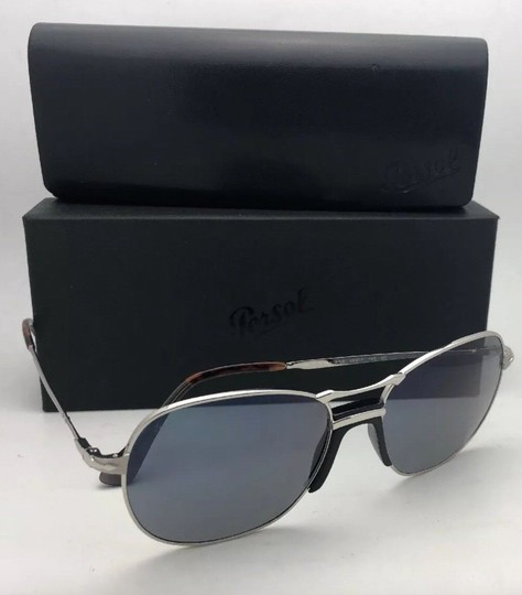 Persol New PERSOL Sunglasses 2449-S 518/56 56-17 145 Silver Frame w/Blue Grey Image 5