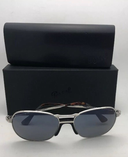 Persol New PERSOL Sunglasses 2449-S 518/56 56-17 145 Silver Frame w/Blue Grey Image 7