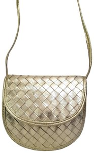 Bottega Veneta Woven Leather Intreciatto Cross Body Bag