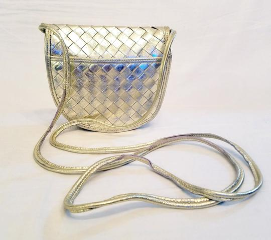 Bottega Veneta Woven Leather Intreciatto Cross Body Bag Image 4