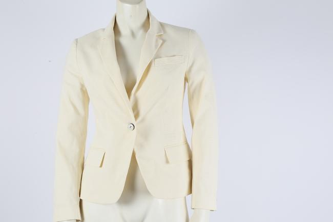 cd0d13096e Theory White Cotton Jacket Blazer Size 0 (XS) - Tradesy