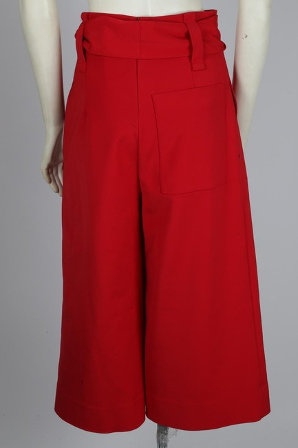 Tibi Capri Dressy Wide Leg Pants Red Image 6