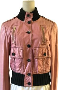 Gucci pink Leather Jacket