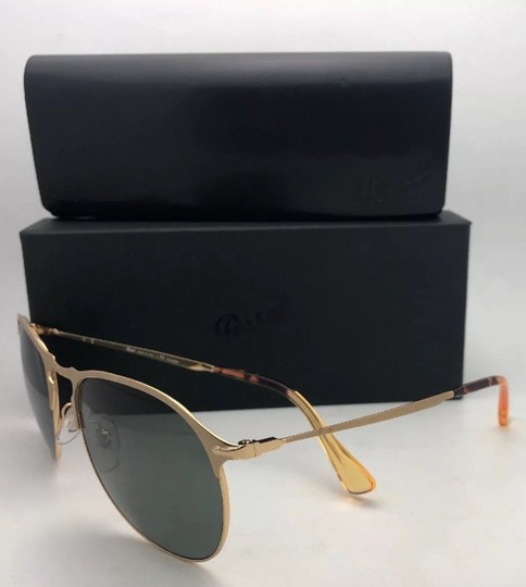 Persol Polarized PERSOL Sunglasses 7649-S 1069/58 56-18 145 Gold Frame w/Grey Image 1