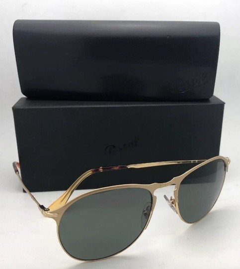 Persol Polarized PERSOL Sunglasses 7649-S 1069/58 56-18 145 Gold Frame w/Grey Image 10