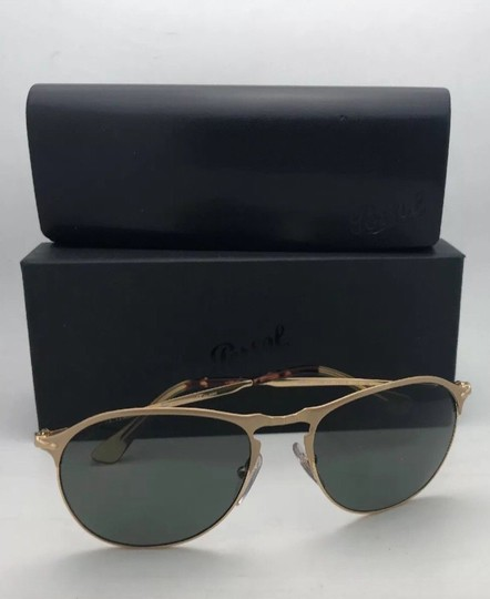 Persol Polarized PERSOL Sunglasses 7649-S 1069/58 56-18 145 Gold Frame w/Grey Image 2