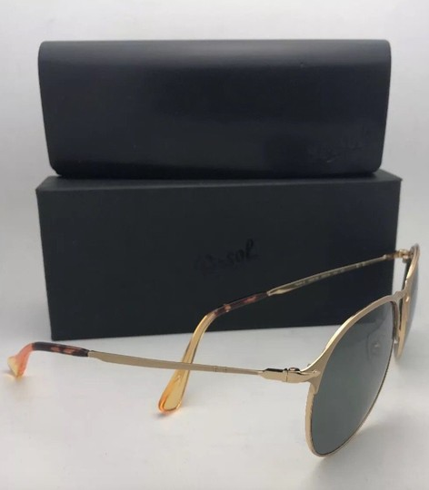 Persol Polarized PERSOL Sunglasses 7649-S 1069/58 56-18 145 Gold Frame w/Grey Image 3