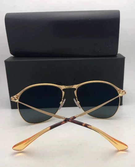 Persol Polarized PERSOL Sunglasses 7649-S 1069/58 56-18 145 Gold Frame w/Grey Image 5