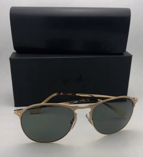 Persol Polarized PERSOL Sunglasses 7649-S 1069/58 56-18 145 Gold Frame w/Grey Image 6