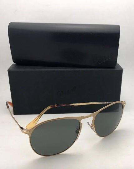 Persol Polarized PERSOL Sunglasses 7649-S 1069/58 56-18 145 Gold Frame w/Grey Image 8