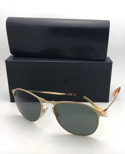 Persol Polarized PERSOL Sunglasses 7649-S 1069/58 56-18 145 Gold Frame w/Grey Image 9