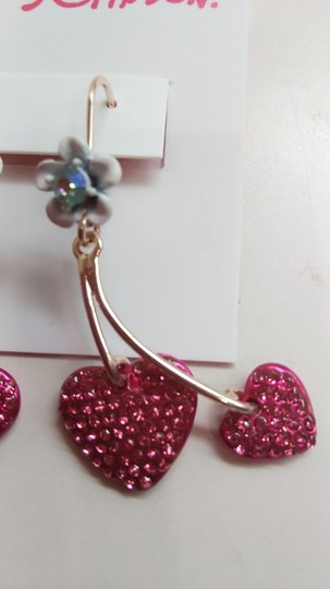Betsey Johnson Betsey Johnson New Hearts and Flower Earrings Image 1