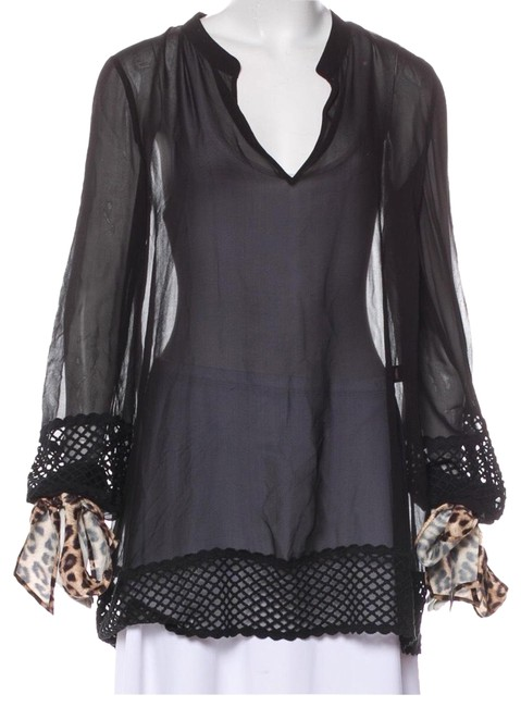 Preload https://img-static.tradesy.com/item/24192318/roberto-cavalli-black-long-sleeve-blouse-size-8-m-0-2-650-650.jpg