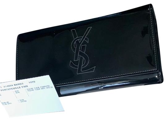 Preload https://img-static.tradesy.com/item/24192337/saint-laurent-black-ysl-patent-leather-wallet-0-1-540-540.jpg