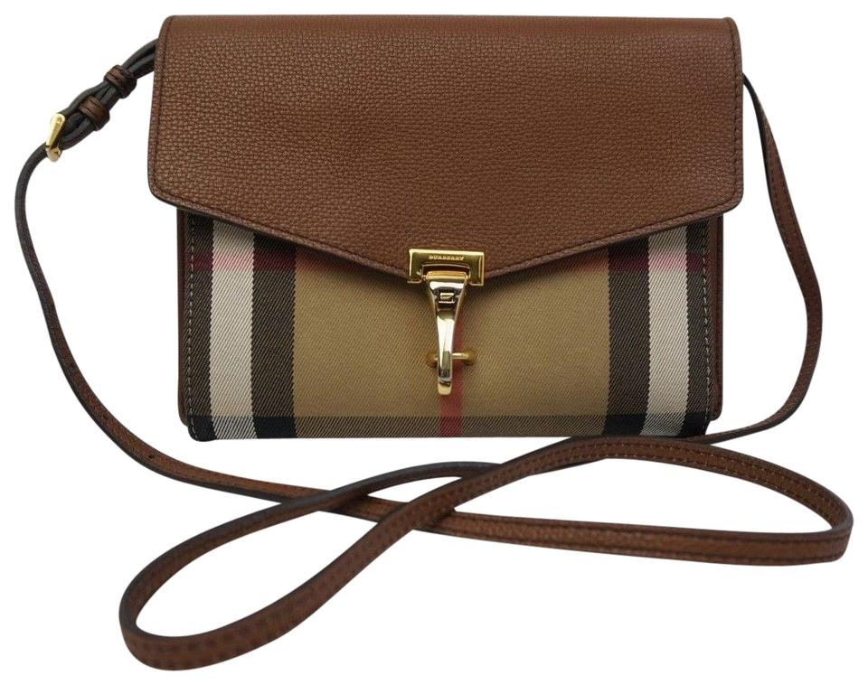 c3167aea018e Burberry House Check Derby Small Macken Tan Brown Leather and Canvas ...