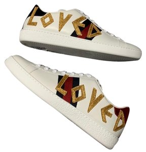 b128c4d632c Gucci Ace Watersnake-trimmed Crystal-embellished Leather Sneakers ...