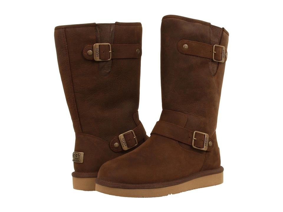 16228b3f384 UGG Australia Brown Sutter Buckle Leather Shearling Lined Biker  Boots/Booties Size US 9 Regular (M, B) 30% off retail