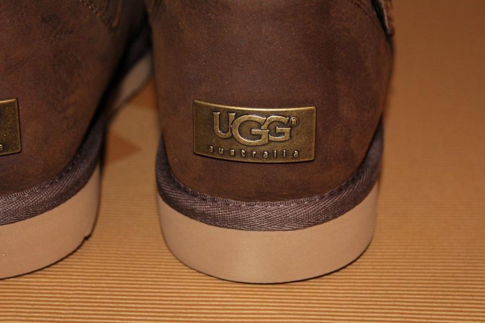 c4653589b47 UGG Australia Brown Sutter Buckle Leather Shearling Lined Biker  Boots/Booties Size US 9 Regular (M, B) 30% off retail