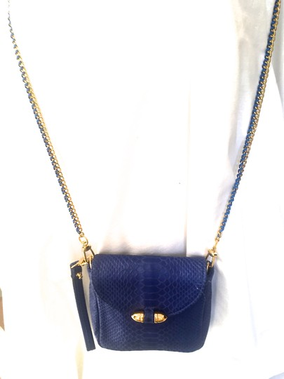 CC SKYE Nwot Snake-embossed Leather 18k Gold-plated Cross Body Bag Image 1