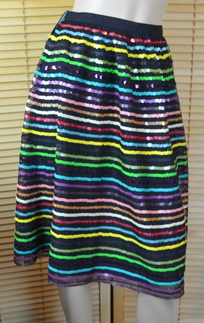 Chetta B. by Sherrie Bloom and Peter Noviello Holiday Sequin Mesh Cocktails Skirt Multi Image 1