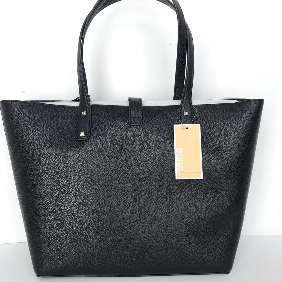 b48f65c51eb9cb Michael Kors Carryall Karson Lg Black Leather Tote - Tradesy