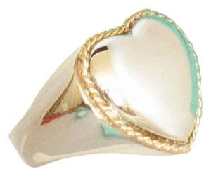 Tiffany & Co. Vintage 18K Sterling Silver Big Heart Ring