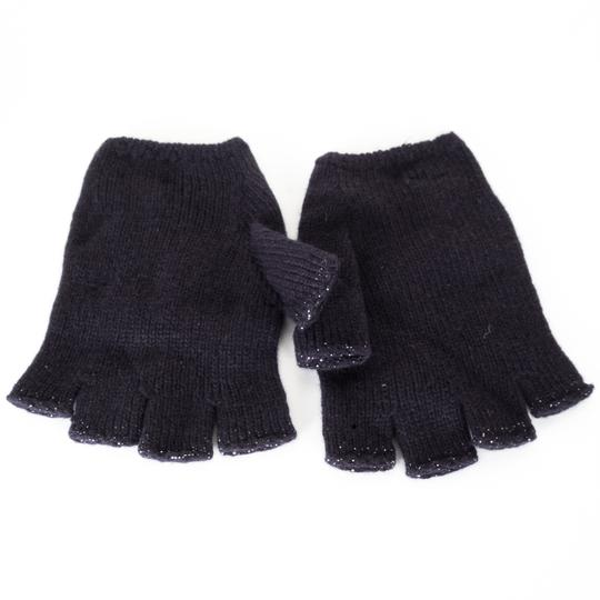 Chanel CHANEL Navy Cashmere Fingerless Gloves Image 1