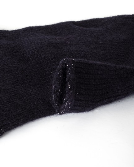 Chanel CHANEL Navy Cashmere Fingerless Gloves Image 2