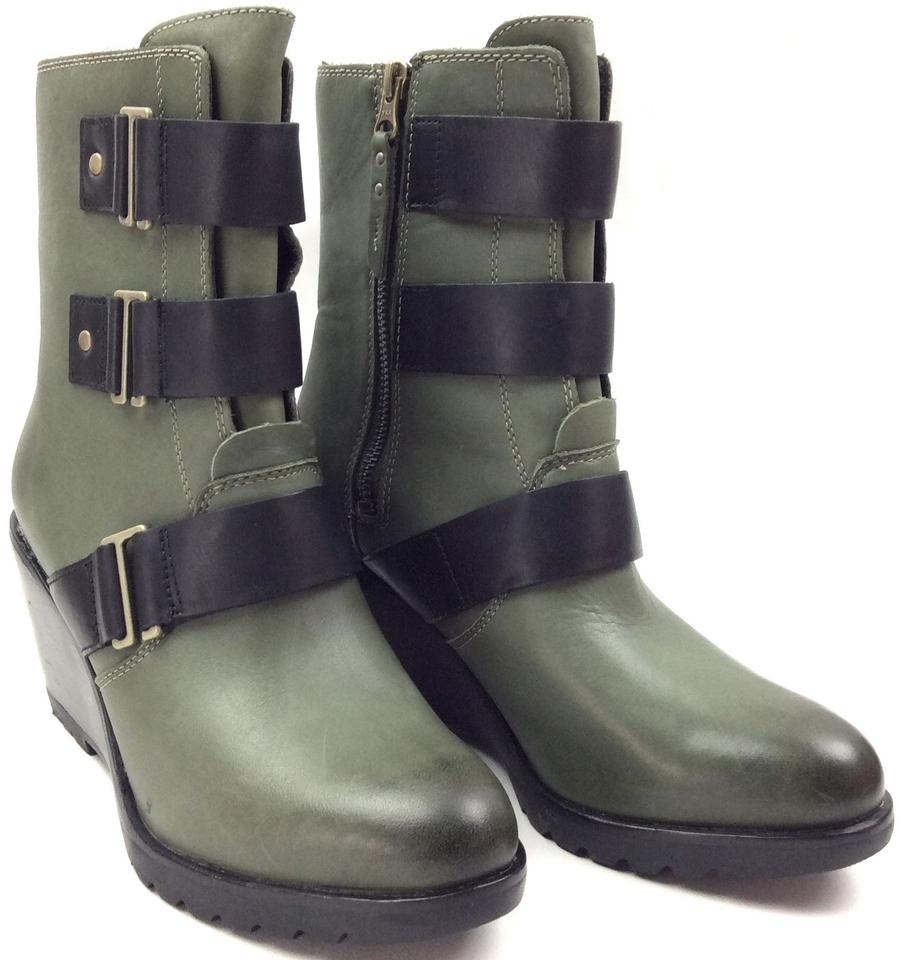 a81b214f1ddd Sorel Black Hunter Nori Green After Hours™ Women s Leather Boots Booties