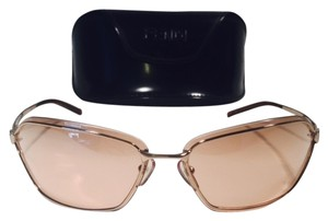 Fendi FENDI Sunset red collection, golden frame with brown lenses