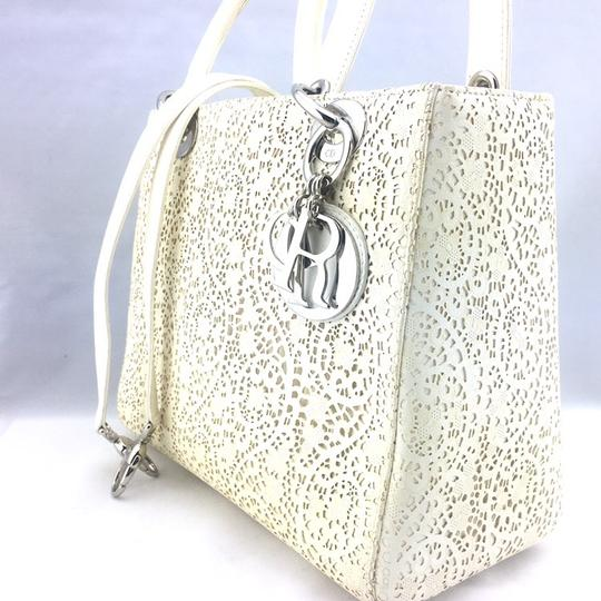 Dior Satchel in ivory, white Image 4
