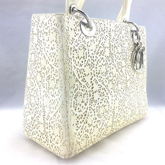 Dior Satchel in ivory, white Image 6
