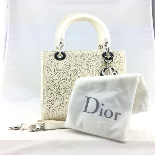 Dior Satchel in ivory, white Image 9