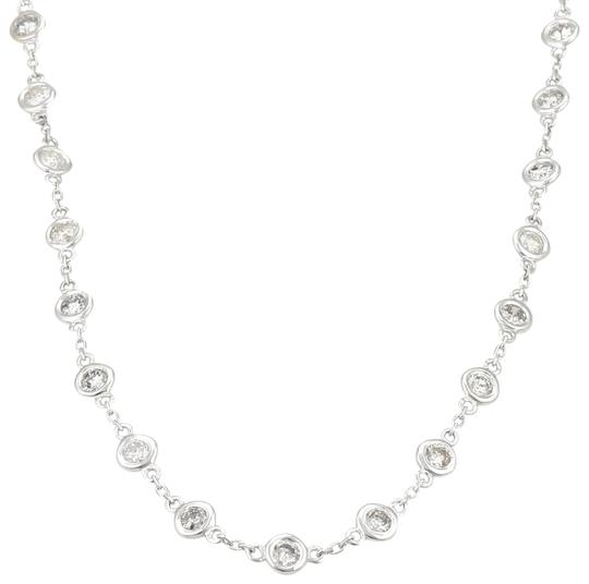 Other New 4.05ct Diamond By The Yard 14k WGold Bezel Set Eternity Necklace Image 0