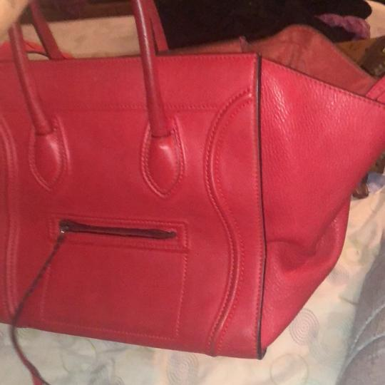 Céline Tote in red Image 6