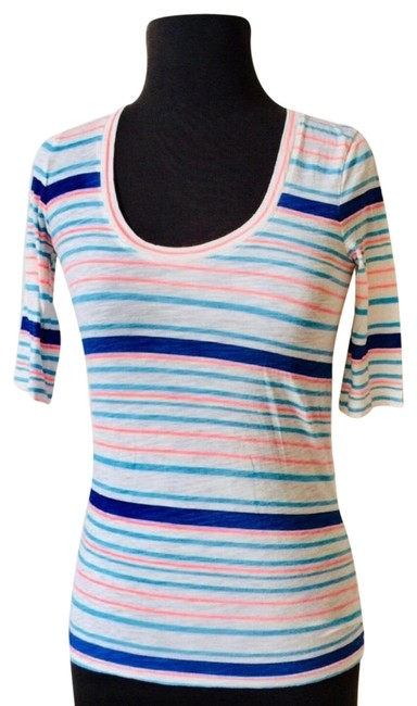 Preload https://img-static.tradesy.com/item/24192960/jcrew-pink-and-blue-stripes-msrp-tee-shirt-size-0-xs-0-1-650-650.jpg